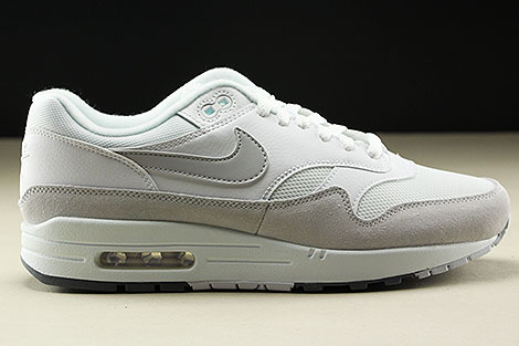Nike Air Max 1 White Pure Platinum Cool Grey Right