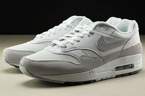 Nike Air Max 1 White Pure Platinum Cool Grey Sidedetails