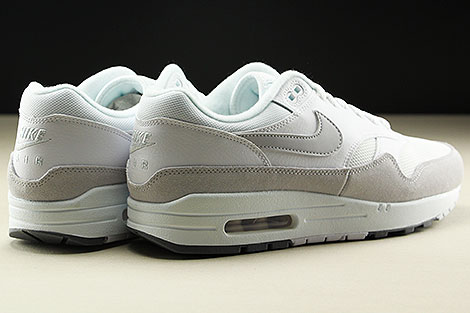 Nike Air Max 1 White Pure Platinum Cool Grey Back view