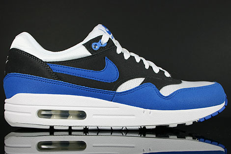 Nike Air Max 1 White Signal Blue Anthracite