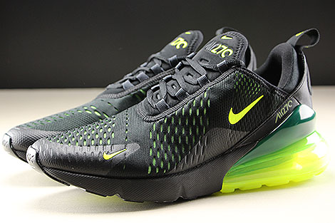 Nike Air Max 270 Black Volt Black Oil Grey Profile