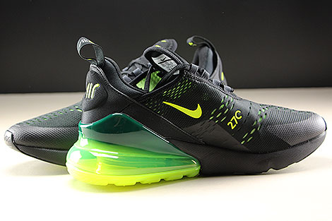 Nike Air Max 270 Black Volt Black Oil Grey Inside