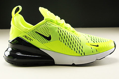 Nike Air Max 270 Volt Black Dark Grey White
