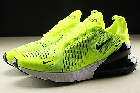 Nike Air Max 270 Neongelb Schwarz Weiss Seitenansicht