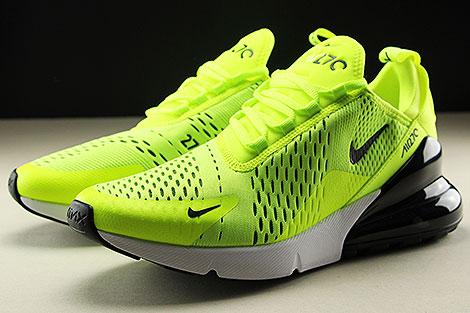 Nike Air Max 270 Neongelb Schwarz Weiss Seitendetail