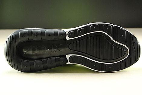 Nike Air Max 270 Neongelb Schwarz Weiss Laufsohle