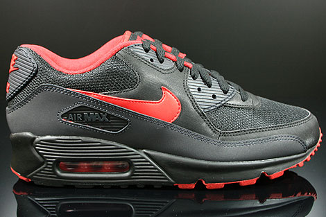Nike Air Max 90 Black Varsity Red Anthracite Grey