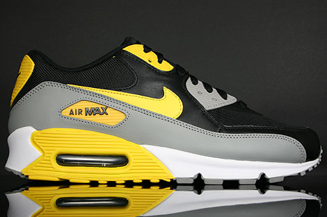 online store 0bb17 feb51 Nike Air Max 90 Black Maize White Medium Grey