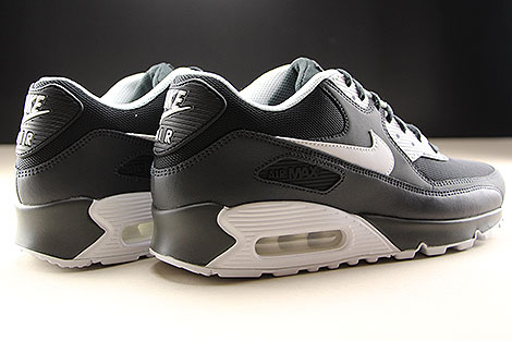 Nike Air Max 90 Essential Anthracite White Black Back view