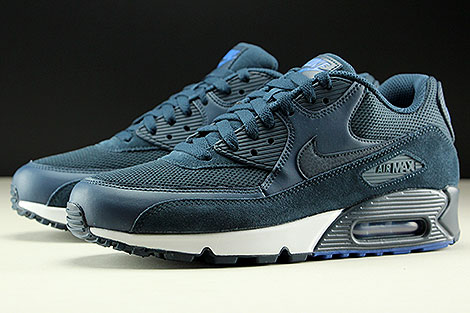 Nike Air Max 90 Essential Armory Navy Blue White Sidedetails