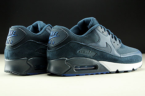 Nike Air Max 90 Essential Armory Navy Blue White Back view