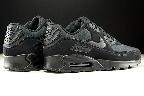 Nike Air Max 90 Essential Black Black Back view