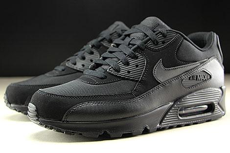 Nike Air Max 90 Essential Black Black Black Black Sidedetails