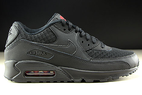 Nike Air Max 90 Essential Black Metallic Silver Right