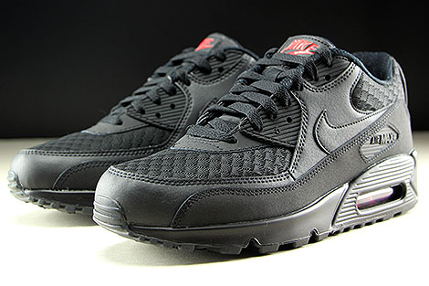 Nike Air Max 90 Essential Black Metallic Silver Sidedetails