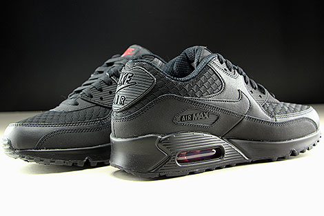 Nike Air Max 90 Essential Black Metallic Silver Inside