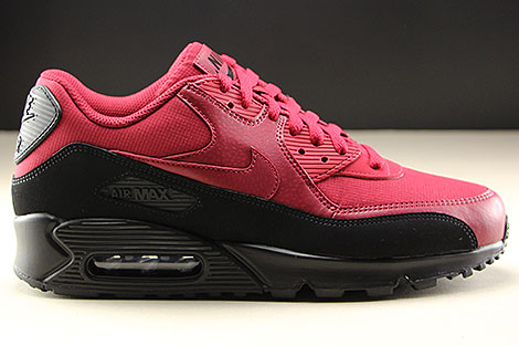 huge discount 17410 3f847 ... Nike Air Max 90 Essential Black Red Crush Right ...