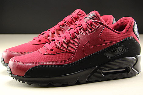 Nike Air Max 90 Essential Black Red Crush Seitenansicht