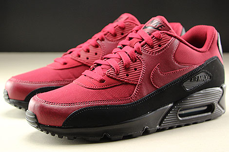 Nike Air Max 90 Essential Black Red Crush Seitendetail