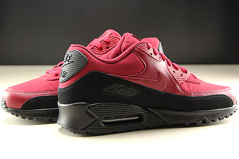 Nike Air Max 90 Essential Black Red Crush Inside