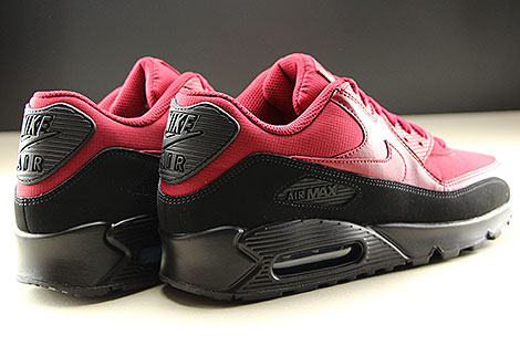 Nike Air Max 90 Essential Black Red Crush Back view