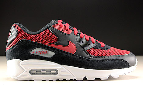 Nike Air Max 90 Essential Black Tough Red Right