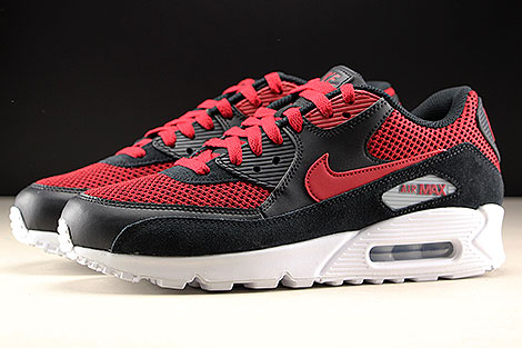 Nike Air Max 90 Essential Black Tough Red Profile