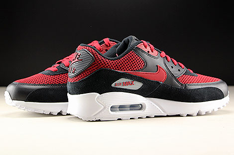 Nike Air Max 90 Essential Black Tough Red Inside