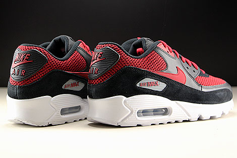 Nike Air Max 90 Essential Black Tough Red Back view