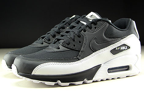 Nike Air Max 90 Essential Black Black White Profile