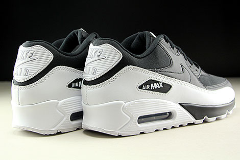 Nike Air Max 90 Essential Black Black White Back view