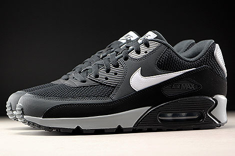 Nike Air Max 90 Essential Black White Anthracite Profile