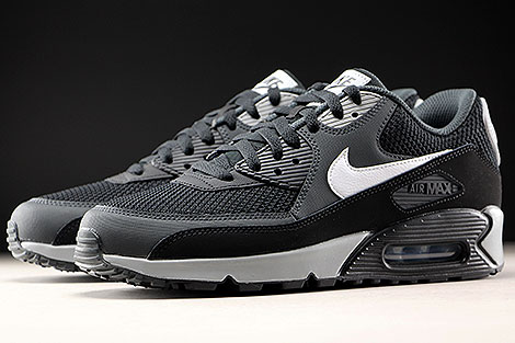 Nike Air Max 90 Essential Black White Anthracite Sidedetails