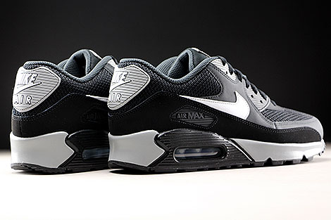 Nike Air Max 90 Essential Black White Anthracite Back view