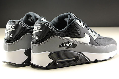 Nike Air Max 90 Essential Black White Cool Grey Back view
