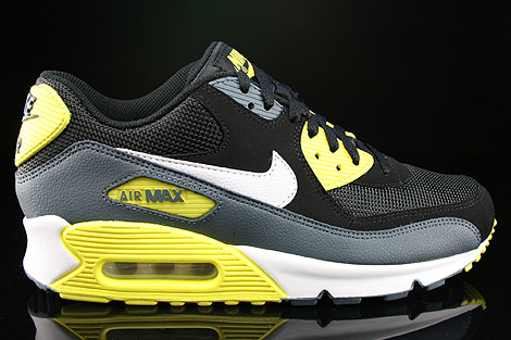 quality design b9cbb 93b7f Nike Air Max 90 Essential Black White Yellow Armory Slate