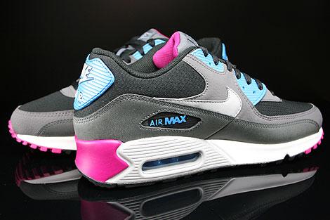 Nike Air Max 90 Essential Schwarz Dunkelgrau Grau Magenta Blau Innenseite
