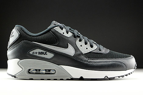 Nike Air Max 90 Essential Black Wolf Grey Anthracite White Right