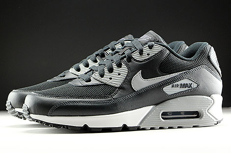 Nike Air Max 90 Essential Black Wolf Grey Anthracite White Profile