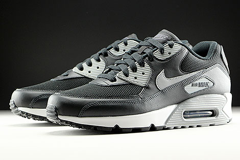 Nike Air Max 90 Essential Black Wolf Grey Anthracite White Sidedetails