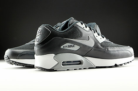Nike Air Max 90 Essential Black Wolf Grey Anthracite White Inside