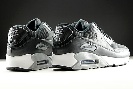 Nike Air Max 90 Essential Black Wolf Grey Anthracite White Back view