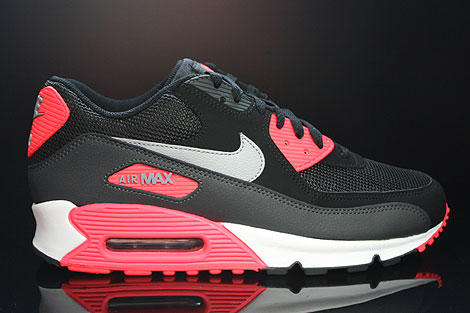 online retailer 875cd bfc16 Nike Air Max 90 Essential Black Wolf Grey Atomic Red Anthracite
