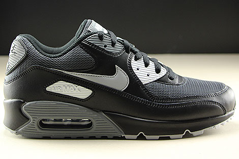 super popular b23bf a1f28 Nike Air Max 90 Essential Black Wolf Grey Dark Grey AJ1285 ...