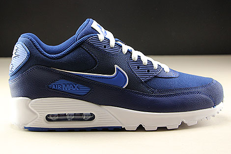 promo code 11990 4afae ... Nike Air Max 90 Essential Blue Void Game Royal White Right ...