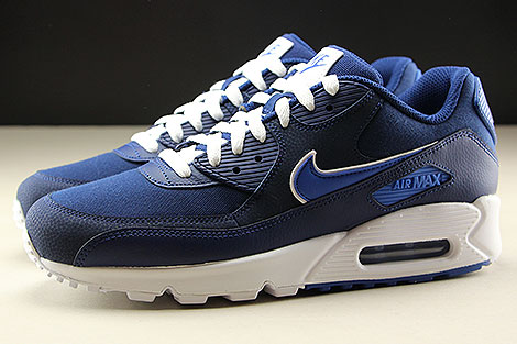 Nike Air Max 90 Essential Blue Void Game Royal White Profile