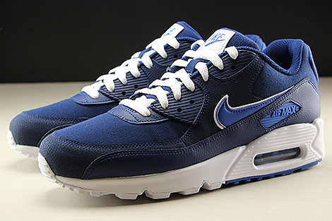 Nike Air Max 90 Essential Blue Void Game Royal White Sidedetails