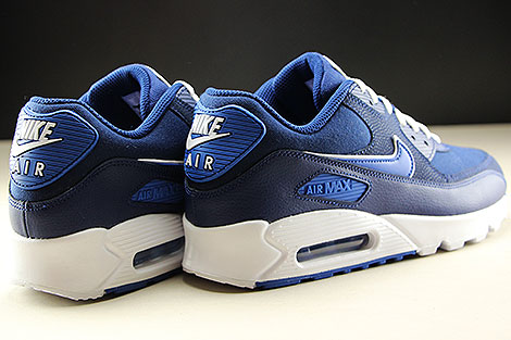 Nike Air Max 90 Essential Blue Void Game Royal White Back view