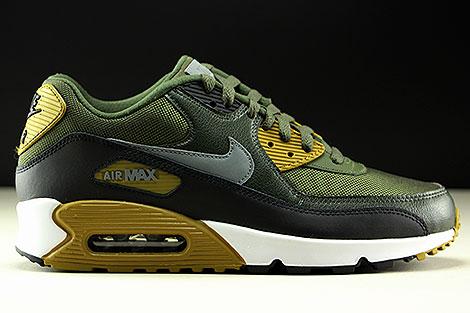 Nike Air Max 90 Essential Cargo Khaki Cool Grey Black 537384