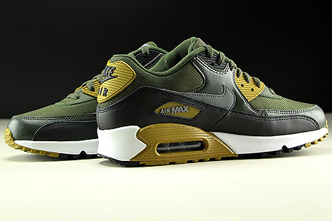 buy popular 21d4f 38ff5 Nike Air Max 90 Essential Cargo Khaki Cool Grey Black Inside .